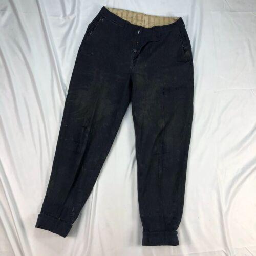 C1900 American Vintage Repaired Pinstripe Workwear