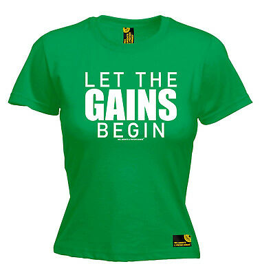 Gym Bodybuilding Top T-shirt Funny Novelty Womens Tee Tshirt - Let The Gains Beg