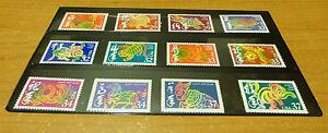 Nouvel An lunaire lot de 12 timbres de #2720 coq - 2004 3832 singe neuf sans charnière Original Gum