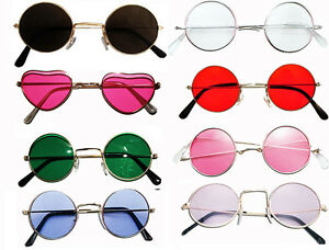 John Lennon Style Sunglasses Ozzy Osbourne Hippy 70 s 80 s Fancy ... 91b85071a244