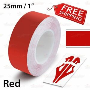 "1//4/"" 6mm Striping Pin Stripe Tape Car WHEEL RIMS Decal Vinyl Sticker CHROME RED"