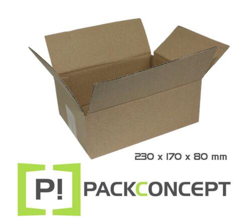 #7 Faltkarton 1-wellig 230 x 170 x 80 mm; Karton; Faltkarton; Versandkarton