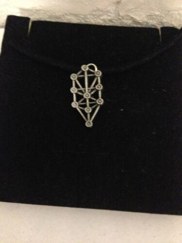 Kaballah R92 English Pewter Emblem on a Black Cord Necklace Handmade