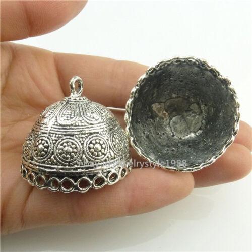18443 2PCS Tibétain 28 mm pour pampilles perles bouchon creux Dôme pendentif filigrane