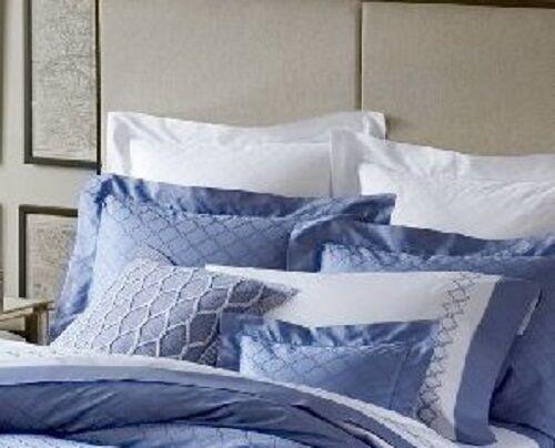 NEW SFERRA BRUNI 3345 JACQUARD CORNFLOWER BLUE PILLOW SHAM KING STANDARD BOUDOIR
