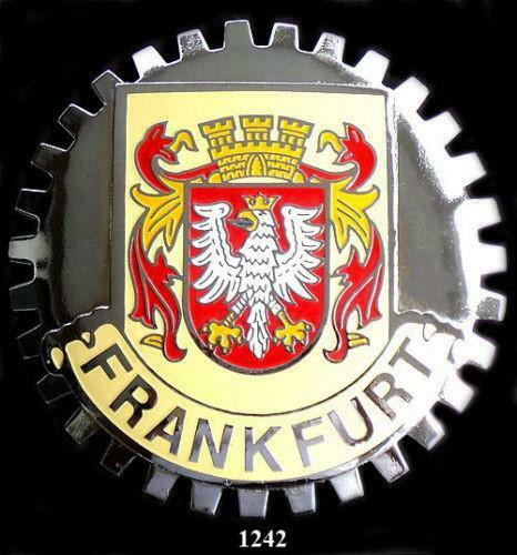 1 NEW Chrome Car Grille Grill Badge Emblem French FRANCE Coat of Arms MEDALLION