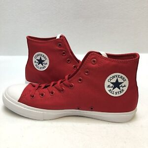 CONVERSE CHUCK TAYLOR II ALL STAR SALSA RED WHITE NAVY  75 NEW ... c3a2db6c33