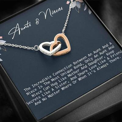 Confirmation Gift Wedding Gift Heart Necklace Niece Gift from Aunt Birthday Gift for Niece Silver Aunts Nieces Jewelry Gift for Niece