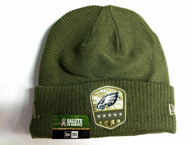 New Era Salute to Service Wintermütze Philadelphia Eagles