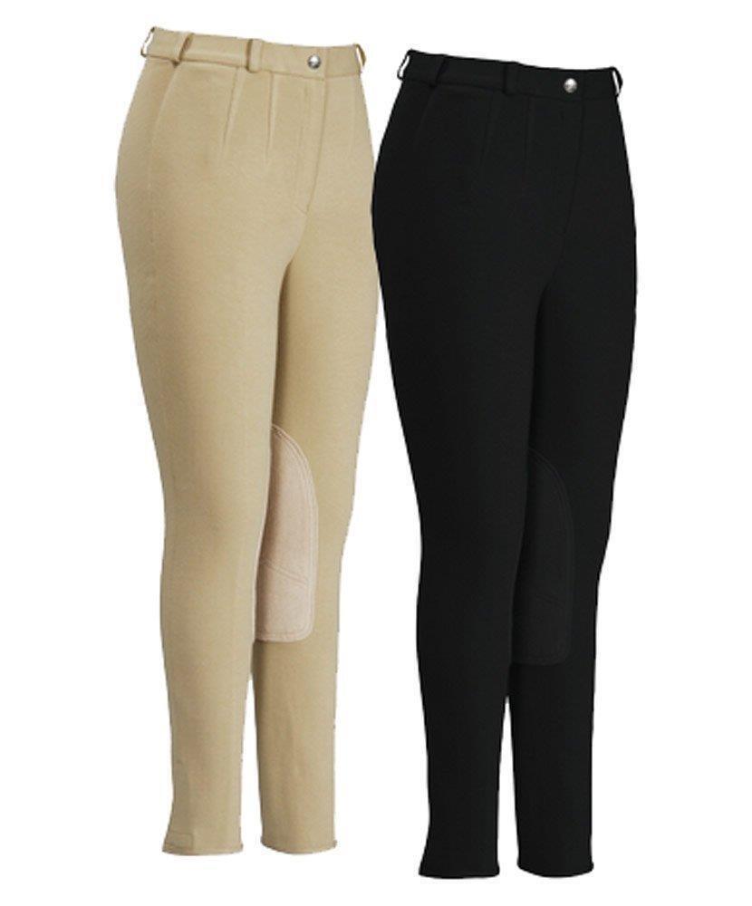 TuffRider Ladies Cotton FigureFit Knee Patch Breech  NEW   100% authentic