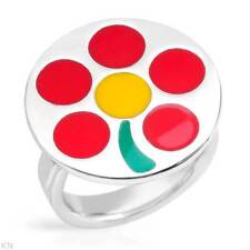 BENETTON  Charming Ring in Three tone Enamel and 925 Sterling Silver