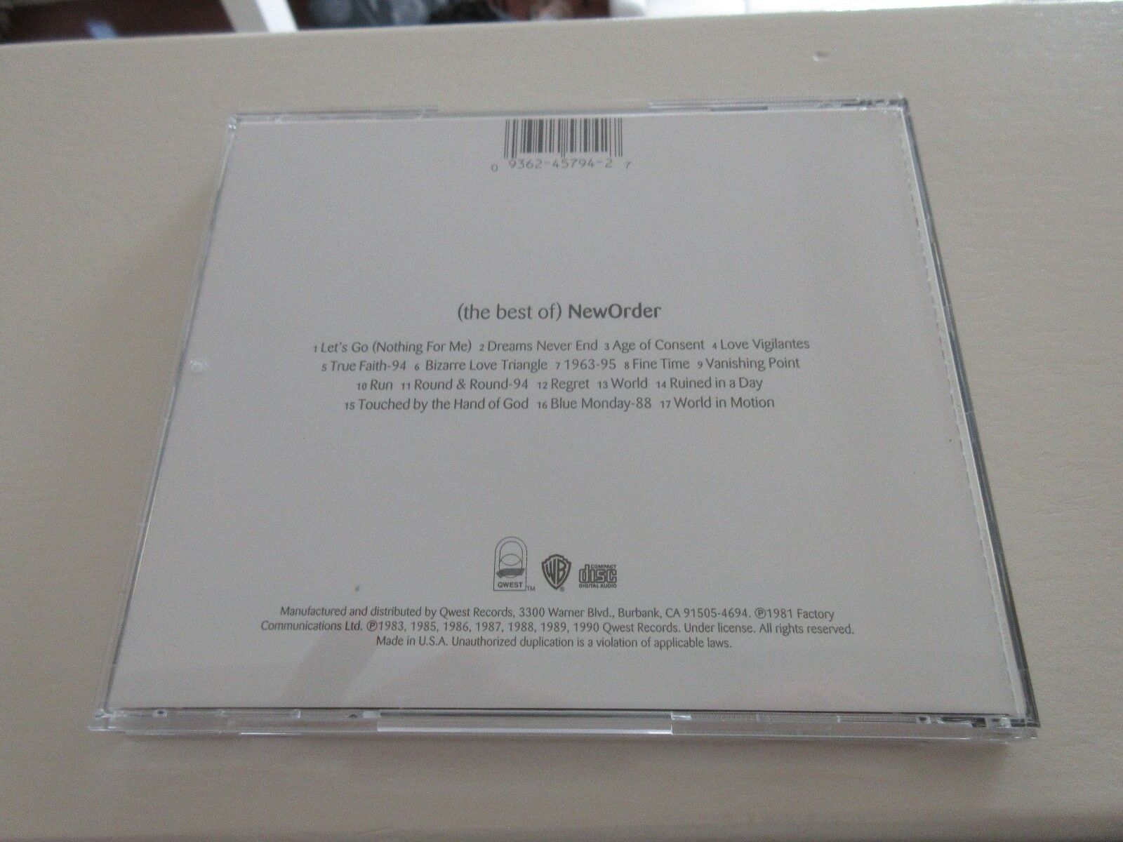 New Order , The Best Of , CD