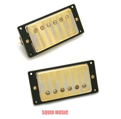 3 FREE STRING SETS Seymour Duncan Antiquity Humbucker Set Aged Gold Cover
