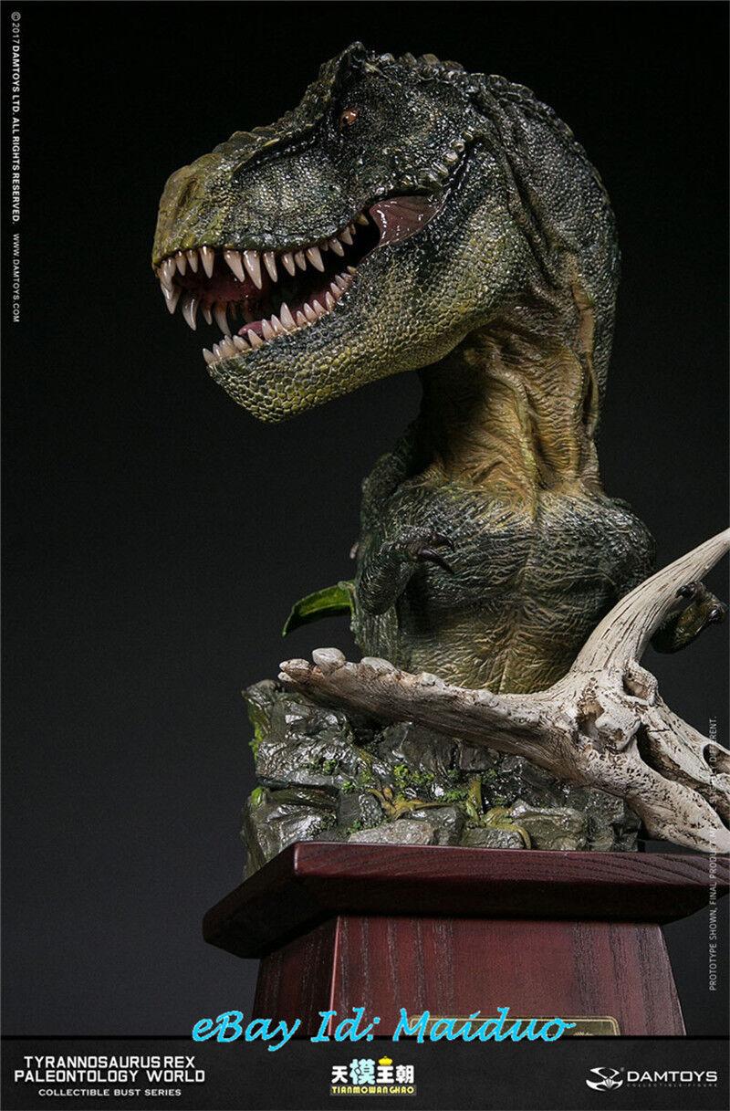 DAMTOYS MUS001B Tyrannosaurus Tyrannosaurus Tyrannosaurus Rex Bust Resin Model Collections New GIfts a7a8a6
