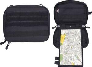 Black Advanced Tactical Admin Pouch Combat MOLLE Map   Document Case ... f0ee4d00e07
