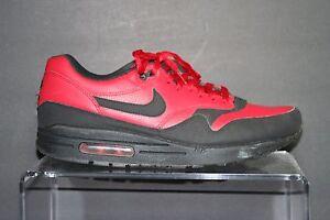 Detalles acerca de Nike Air Max 1 De Cuero PRM'15 Multi Gym Rojo Negro Hombre 11 Retro Atlético Hip mostrar tÃtulo original