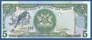 Mot Mot Vogel Weidenkorb Körbe At Market Unc W Honest Trinidad & Tobago P47