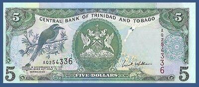 2006//2013 Trinidad /& Tobago 5 Dollars Mot Mot Bird//p47b UNC