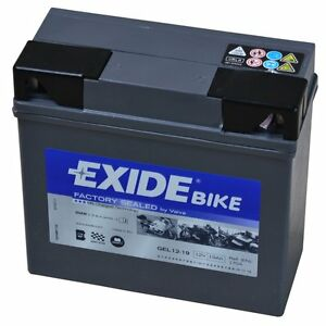exide bmw batterie de moto gel g19 ah robuste r sistant aux egalement pour ebay. Black Bedroom Furniture Sets. Home Design Ideas