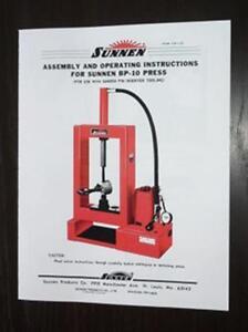 Sunnen-BP10-Piston-Pin-Press-Instruction-Manual-BP-10