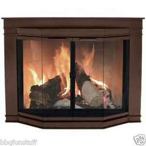 Pleasant Hearth Oil Rubbed Bronze Fireplace Door Glacier