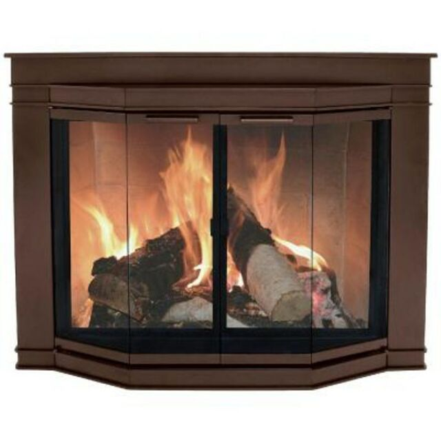 Pleasant Hearth Oil Rubbed Bronze Glacier Bay Large Fireplace Gl Door 7702