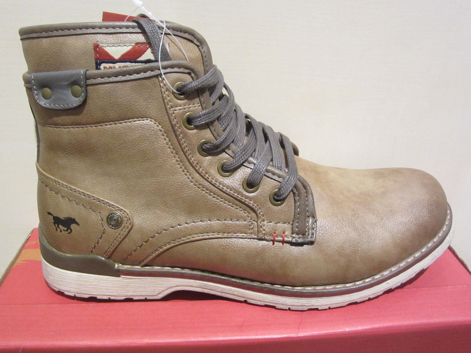 MUSTANG botas de cordón con RV, marrón, Forro Cálido 4061 NUEVO