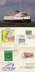 DANISH-FERRY-MS-KONG-FREDERIK-IX-A-SHIPS-CACHED-COVER-A-EUROPA-FDC-amp-PHOTOGRAPH