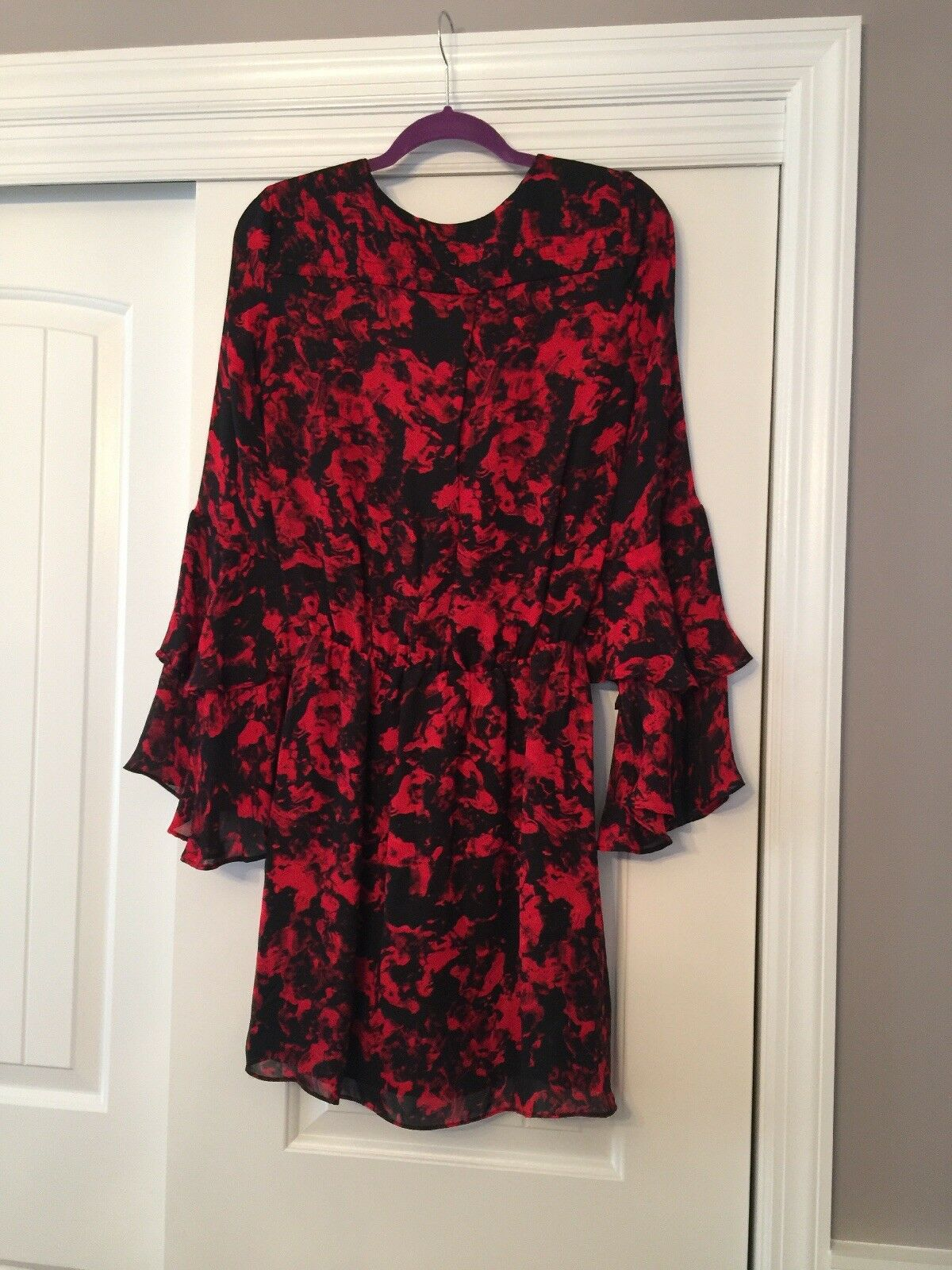 Parker damen's Dress XS rot And schwarz Print Retail Value