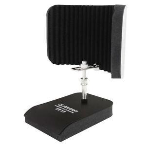 studio microphone isolation shield mic acoustic foam windscreen desk vocal booth ebay. Black Bedroom Furniture Sets. Home Design Ideas