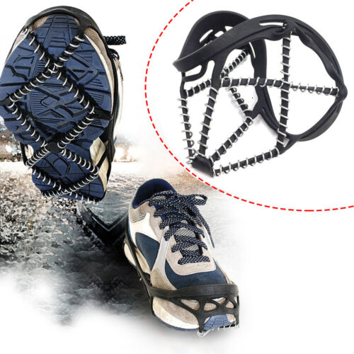 Ice Snow Anti-Slip Gripper Spike Grip Crampon Cleat For Shoes Boots Overshoe H7X