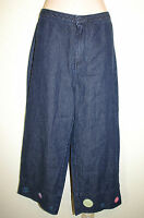 Austin Clothing Sz 8 Blue Jean Embroidered Hems Cropped Capri Jeans Pants