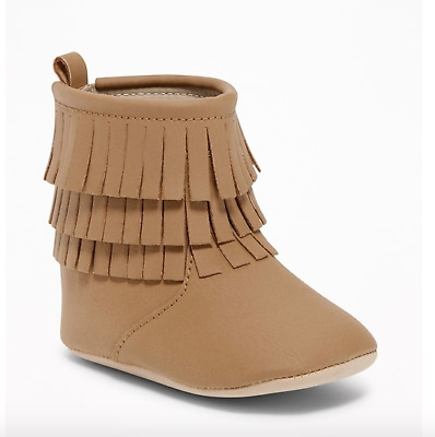 OLD NAVY GAP Sueded Fringe Booties for Baby NWT 12-18M 18-24M N4 NNN