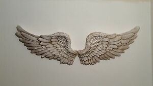Wall art angel wings ebay for Angel wings wall decoration uk