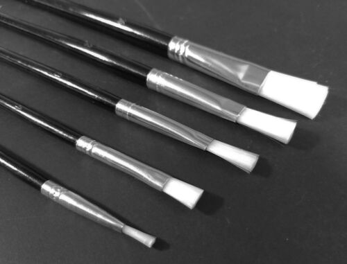 12 /& 16 Soft Bristle Polyester Size 0 8 60 x Small Artists Paint Brushes 4