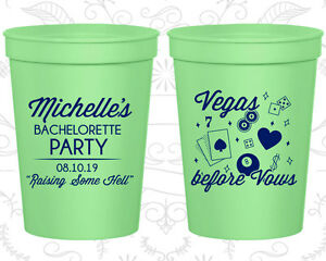 Bachelorette Party Stadium Cups Cup Favors (60196) Raising Some Hell, Las Vegas