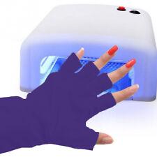 Purple Nail Art UV GEL Protection Gloves Polish Tips Anti UltraViolet Toed