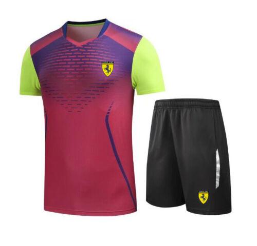 Men Summer Sport Badminton T Shirt Top Shorts Pants Tracksuits Set Suits Active
