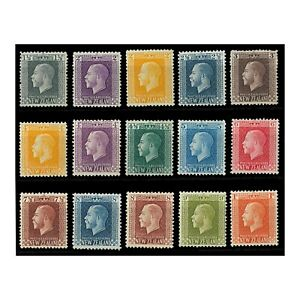 New-Zealand-1915-30-KGV-Simplified-Set-of-15-Stamps-to-1-SG416-30-MH-MLH-7-5