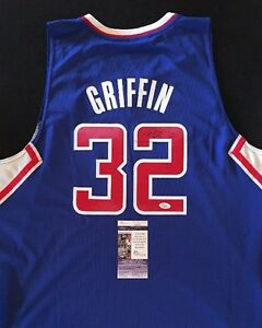 new style 07146 f04a0 BLAKE GRIFFIN LOS ANGELES CLIPPERS SIGNED Blue Jersey JSA ...