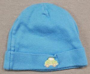 90ad507ec Details about GERBER 0-6 MONTH BABY BOY BLUE CAR INFANT SKULL CAP HAT