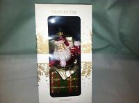 Dillard's Trimsetter 6 Mercury Glass Gift-wrapped Santa Ornament Poland