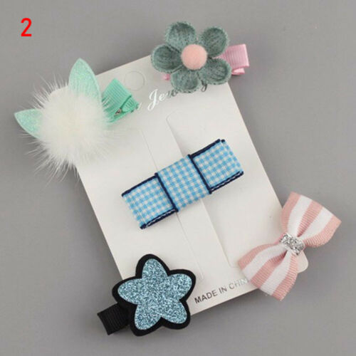 Kids Headdress Children Hairclip Girls Hair Clips Cartoon Bows Princess Hairpin