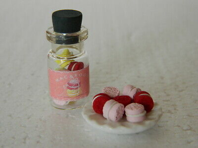 (f1.23) 1/12th Scale Dolls House Handmade Selection Of Macaroon Cakes Uitstekend In Kusseneffect