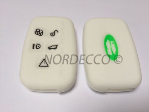 NEW SILICONE 5 BUTTON SMART KEY FOB PROTECTOR CASE RANGE ROVER DISCOVERY L405 W