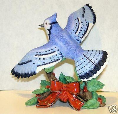 LENOX 2007 annual CHRISTMAS BLUE JAY BlueJay Bird NEW in BOX w//COA