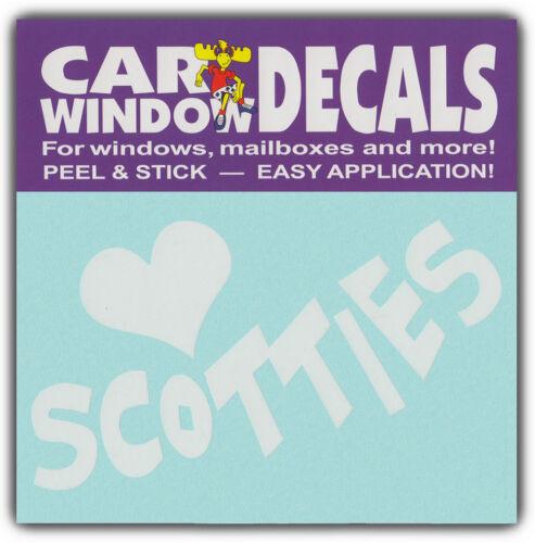 Car Window Decals I Love ScottiesScottish TerriersStickers Cars Trucks