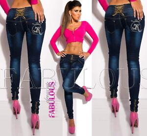New-Slim-Skinny-Leg-Jeans-For-Women-Designer-Size-10-12-14-2-4-6-8-XS-S-M-L-XL