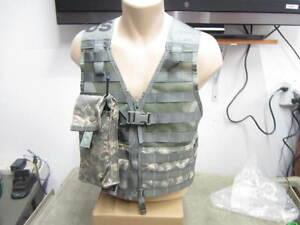 Military-ACU-Fighting-Load-Carrier-FLC-Vest-MOLLE-II-NEW-w-Radio-Pouch