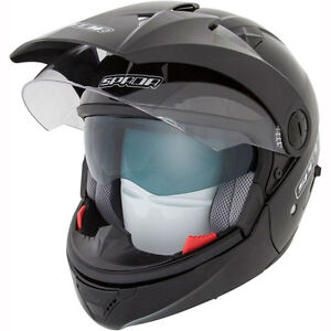 Spada-Duo-Duel-full-face-open-face-Motorcycle-Helmet-gloss-Black